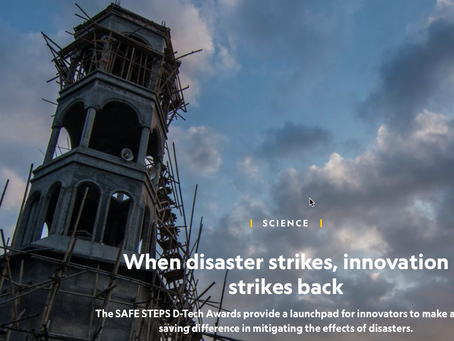 When disaster strikes, innovation strikes back