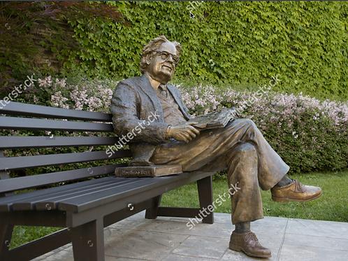 Statue 2 on park bench, Toronto, Canada