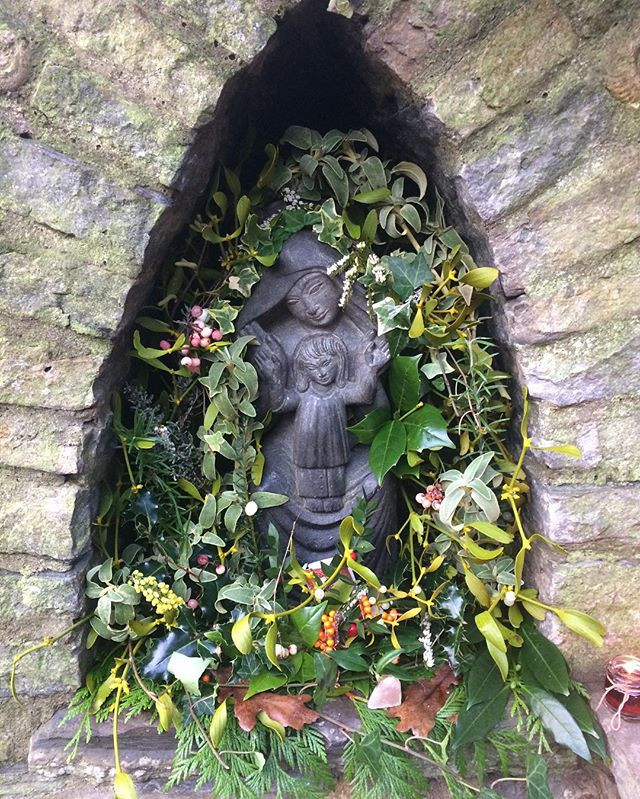 Statue of Mother Mary Chalice Well Glastonbury