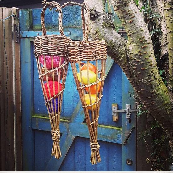 Willow fat ball bird feeder (or food storage)