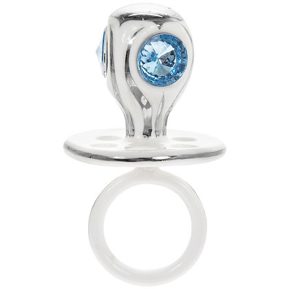 Silver Dummy with Blue Jewels