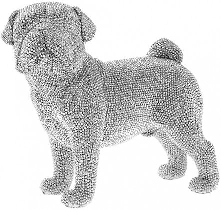 Silver Standing Pug