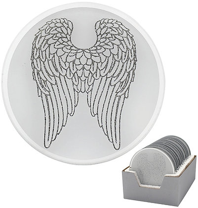 Glitter Wings Candle Plate 10cm
