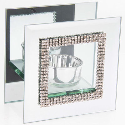 Mirror Diamante Tealight Holder