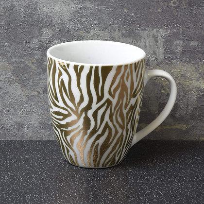 Luxe Curved Gold Zebra Mug