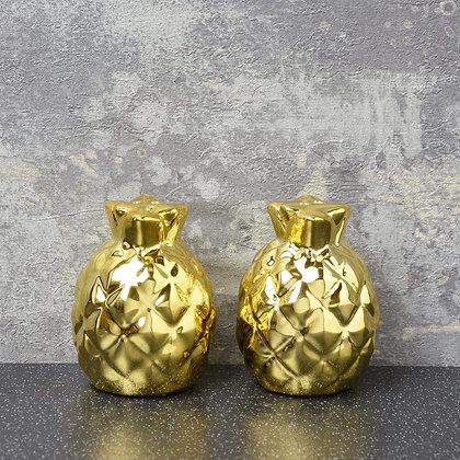Deco Glam Gold Salt & Pepper Shakers