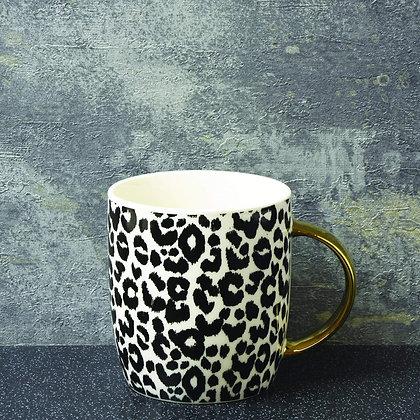 Luxe Barrel Leopard Print Mug