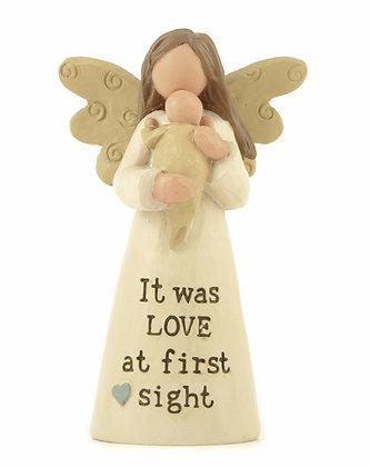 Angel & Baby Figurine
