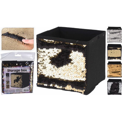 Sequin Storage Cube