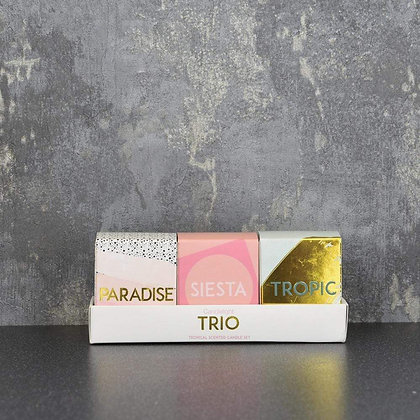 Trio Set of 3 Mini Scented Candles (Pineapple)