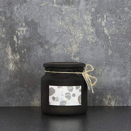 Peace Redcurrant & Ivy Frosted Glass Candle