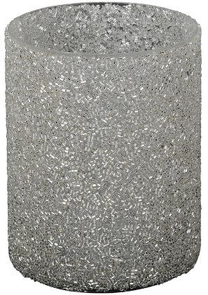 Sparkling Silver Candle Holder
