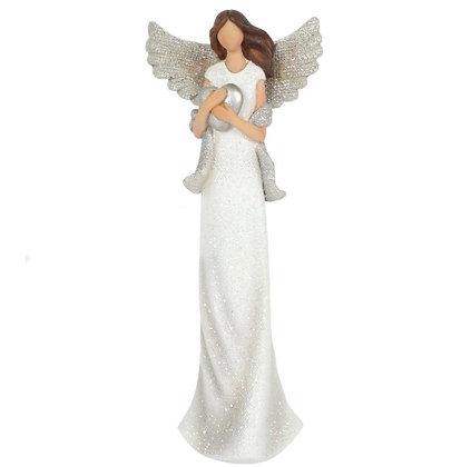 Amara Glitter Angel Ornament