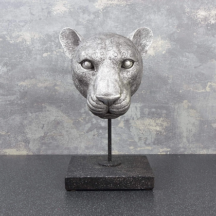 Leopard Head on Stand