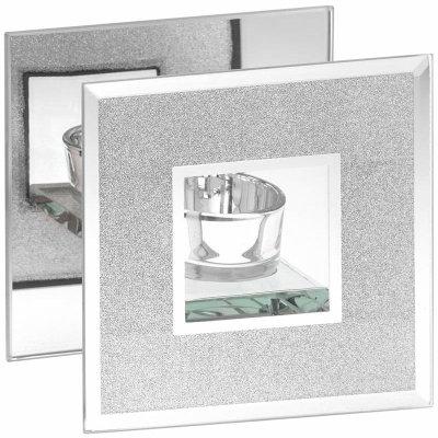Silver Glitter Tealight Holder