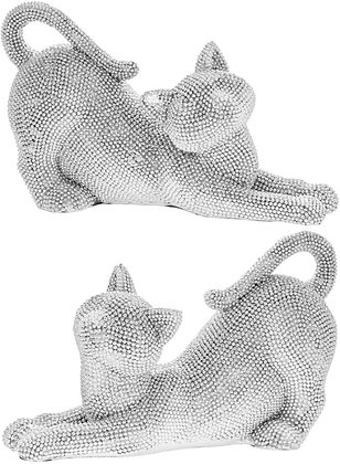 Diamante Stretched Cat Figure