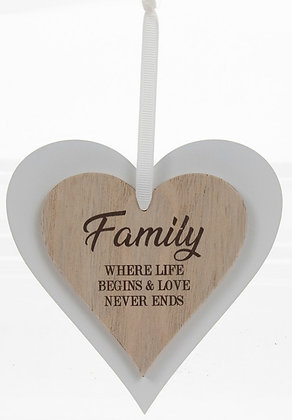 Family Sentiments Hanging Plaque