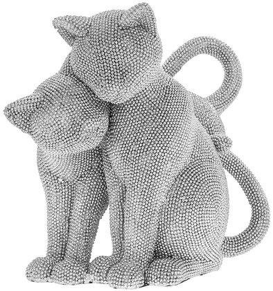 Diamante Cats Ornament