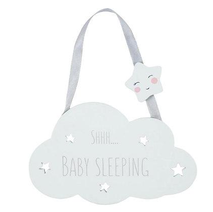 Shhh Baby Sleeping Hanging Decoration