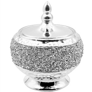 Sparkling Diamanté Round Trinket Box