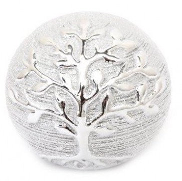 Silver Tree Ornamental Ball