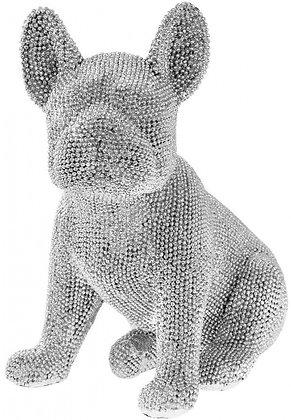 Silver Sitting French Bulldog
