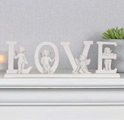 Cherub Standing LOVE Ornament