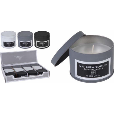 Scented Candle Tin (Fresh Linen)