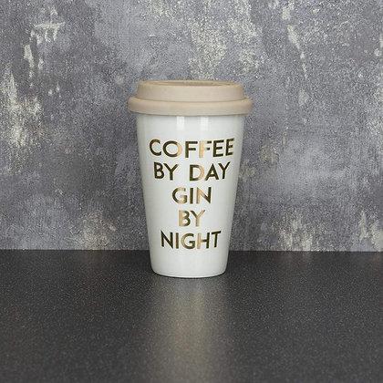 Travel Mug 'Coffee by Day Gin by Night'