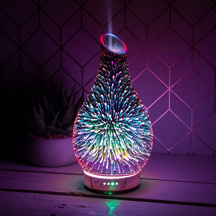 Rose Gold 3D Firework Aroma Humidifier