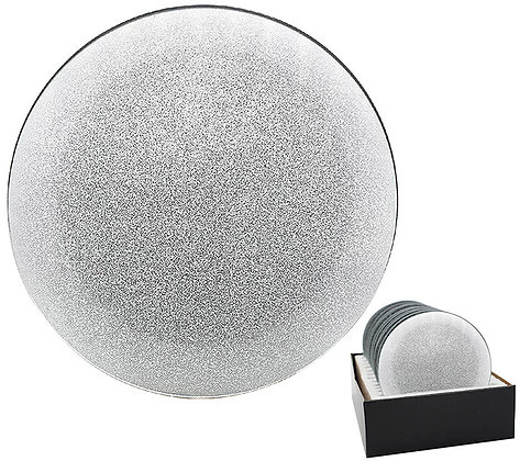 Glittery Mirrored Candle Plate 10cm