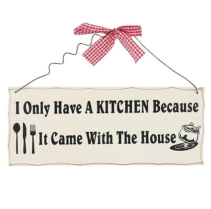 Kitchen Slogan Hanging Sign