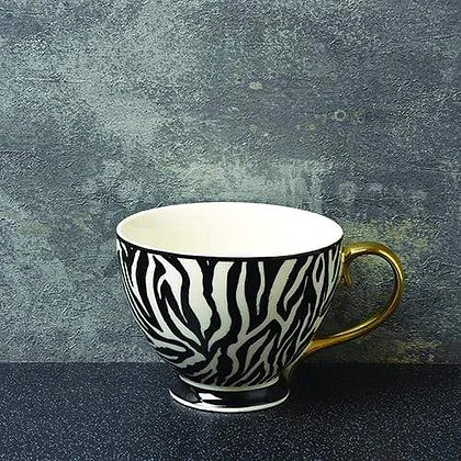 Luxe Footed Zebra Mug