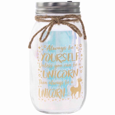 LED Light Up Unicorn Jar