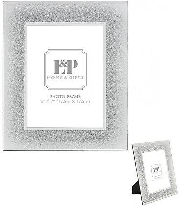 Glittery Mirrored Photo Frame 26cm
