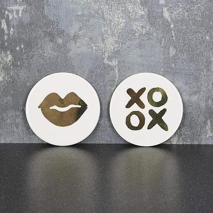 Lips Ceramic Coaster