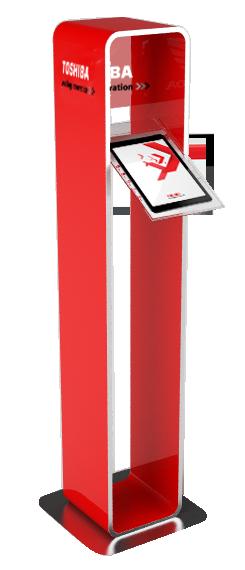 Totem Porta IPad 85x22 cm