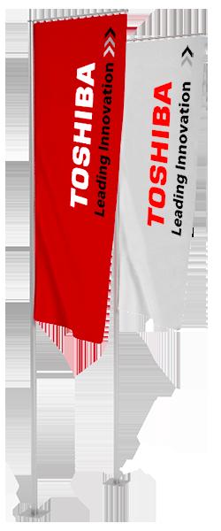 Kit Asta + Bandiera da esterno 250x80 cm + Basamento di fissaggio