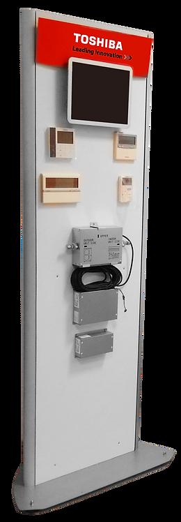 Espositore prodotti autoportante controlli 200x65