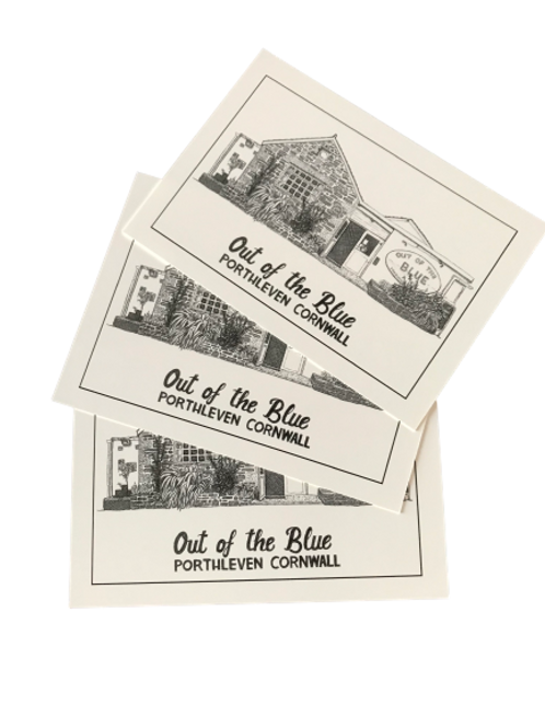 Out Of The Blue Postcard x5