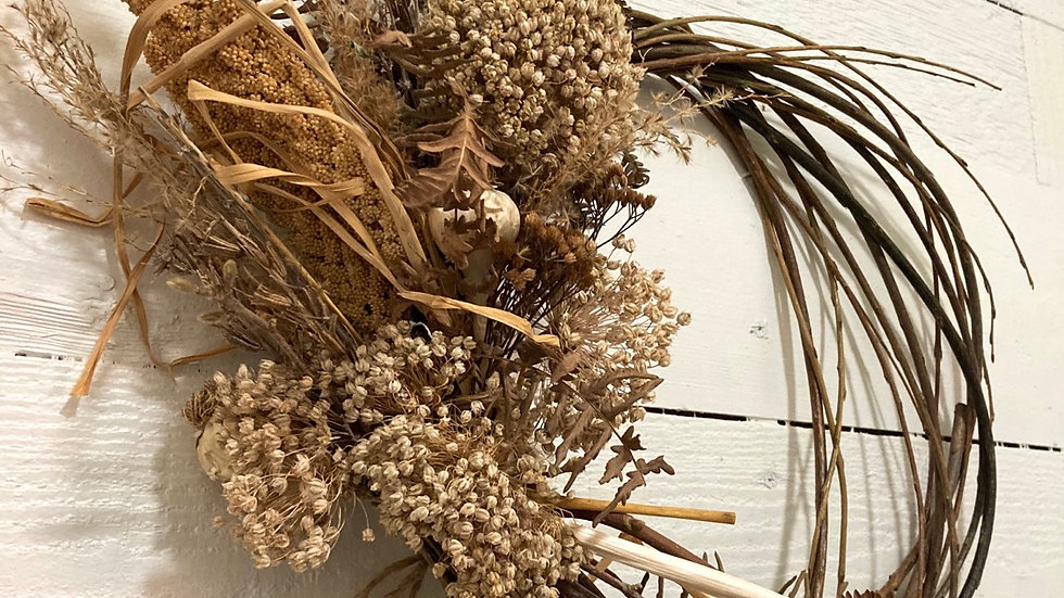 Boho bliss dried wreath