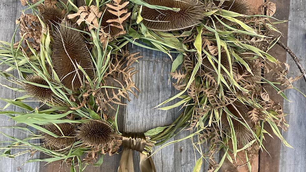 Teasel wreath