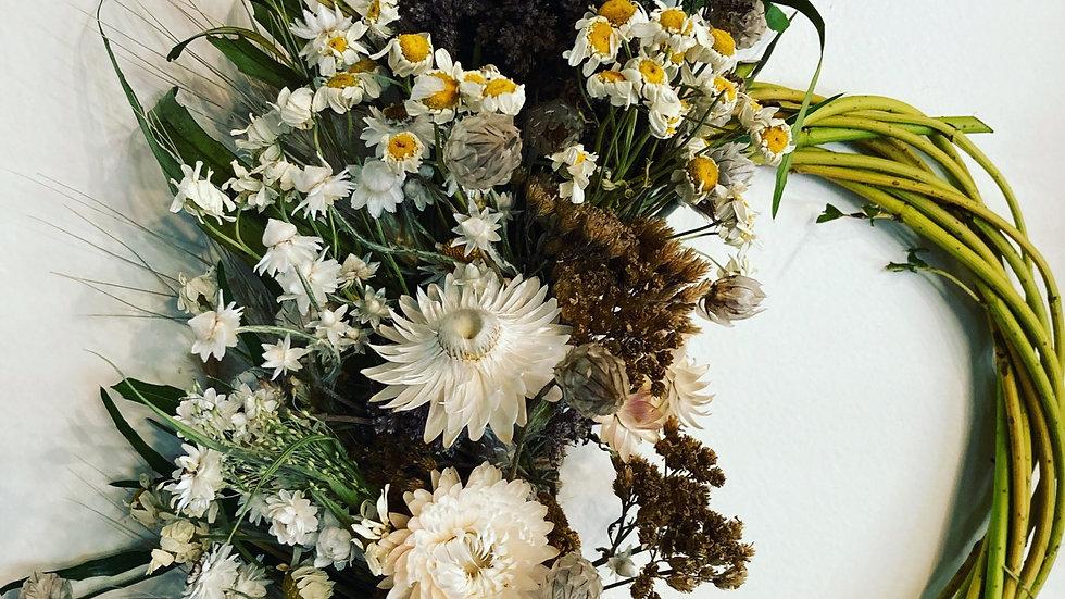 White Russian dried wreath