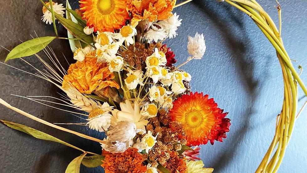 Happy like Sunday morning dried wreath