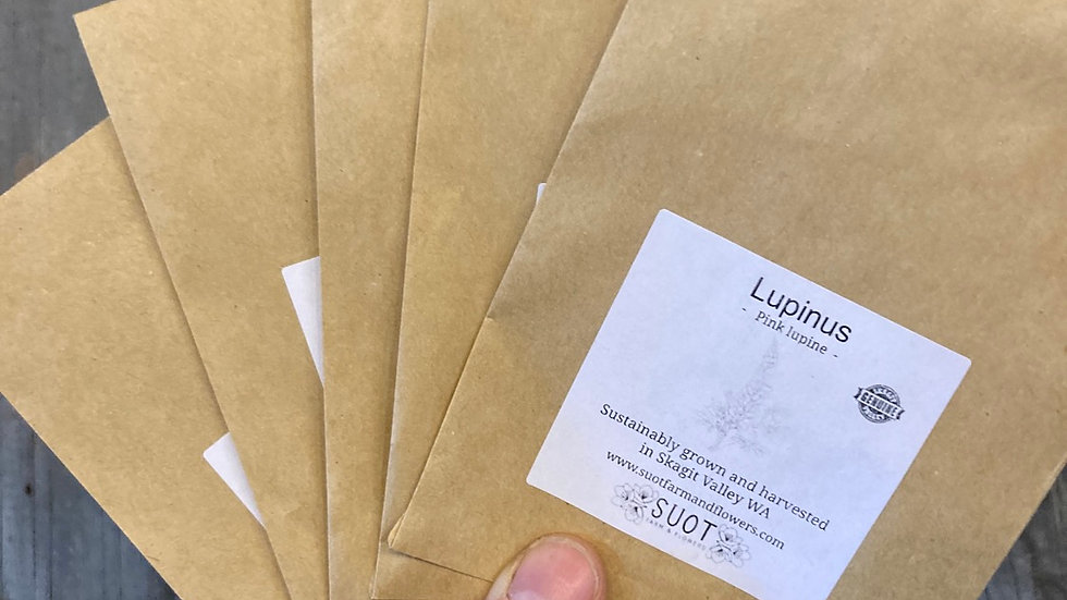 Lupine seed packet