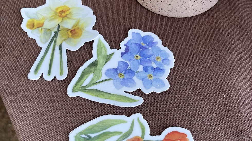 Floral stickers