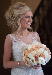 blonde bride airth castle flowers