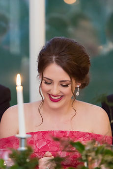 bridesmaid laughing carlowrie castle