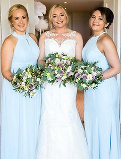 bridal party fairmont st andrews flowers dresses