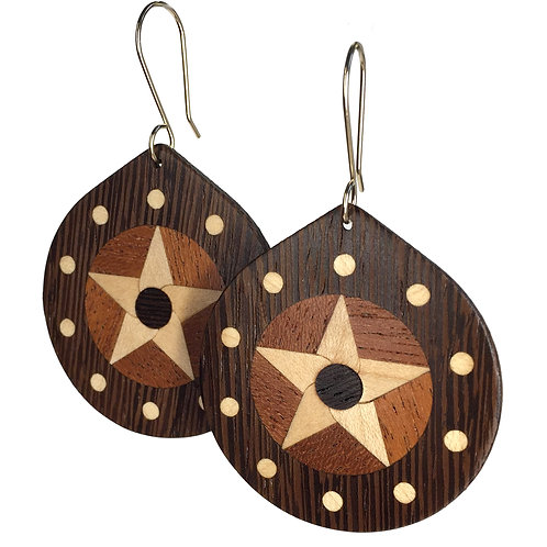 Star with 10 Planets (wenge)